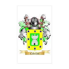Cabellos Sticker (Rectangle 50 pk)