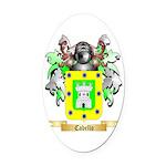 Cabello Oval Car Magnet