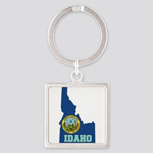 Idaho Flag Square Keychain
