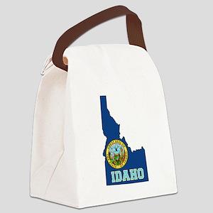 Idaho Flag Canvas Lunch Bag