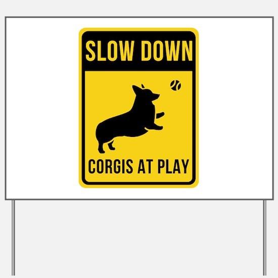Corgis at Play - Yard Sign