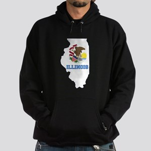 Illinois Flag Hoodie (dark)