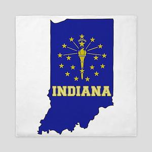 Indiana Flag Queen Duvet