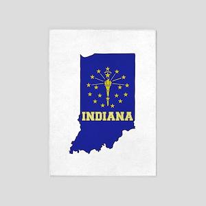 Indiana Flag 5'x7'Area Rug