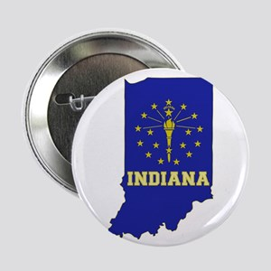 "Indiana Flag 2.25"" Button"