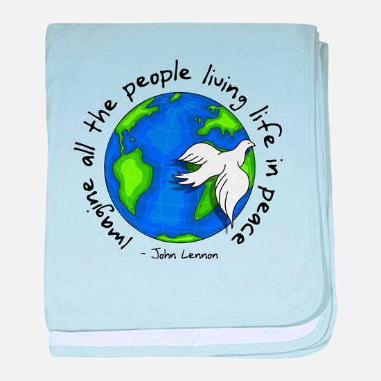 imagine_world_life_peace_dark.png baby blanket