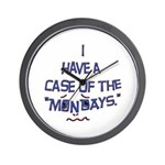 Case of the Mondays Wall Clock