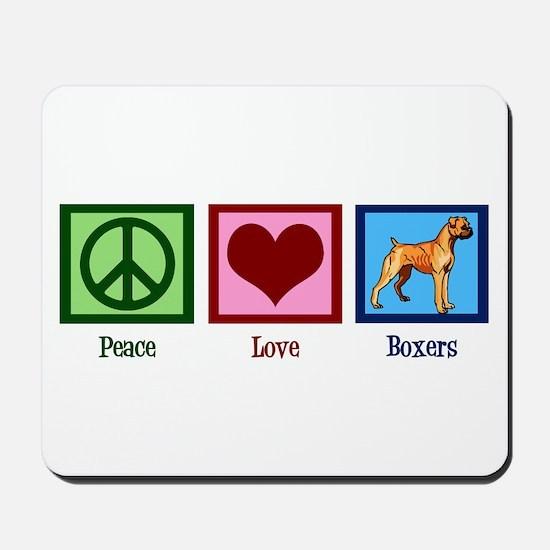 Peace Love Boxers Mousepad