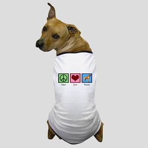 Peace Love Boxers Dog T-Shirt