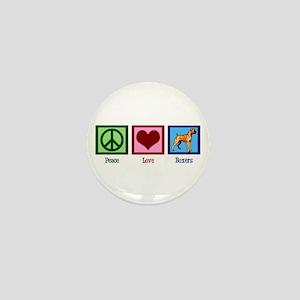 Peace Love Boxer Dog Mini Button