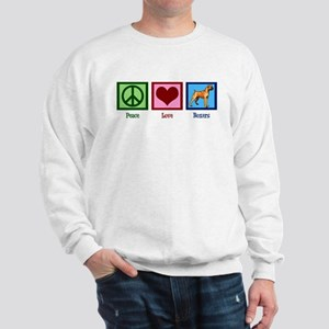 Peace Love Boxers Sweatshirt