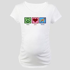 Peace Love Boxers Maternity T-Shirt