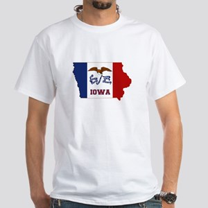 Iowa Flag White T-Shirt