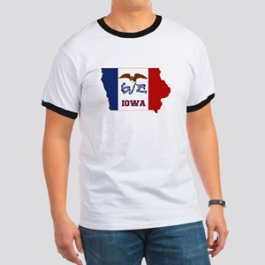 Iowa Flag Ringer T