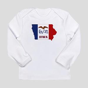 Iowa Flag Long Sleeve Infant T-Shirt