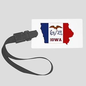 Iowa Flag Large Luggage Tag