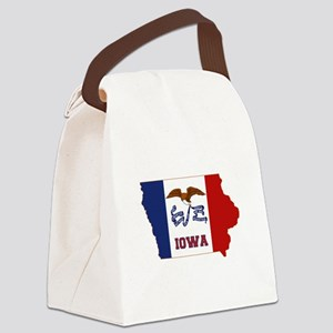 Iowa Flag Canvas Lunch Bag