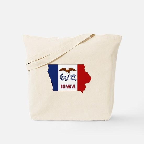 Iowa Flag Tote Bag
