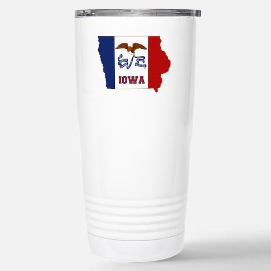 Iowa Flag Stainless Steel Travel Mug