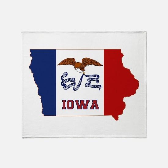 Iowa Flag Throw Blanket