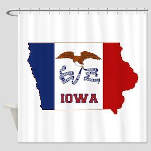 Iowa Flag Shower Curtain