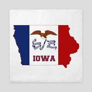 Iowa Flag Queen Duvet