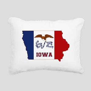 Iowa Flag Rectangular Canvas Pillow