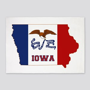 Iowa Flag 5'x7'Area Rug