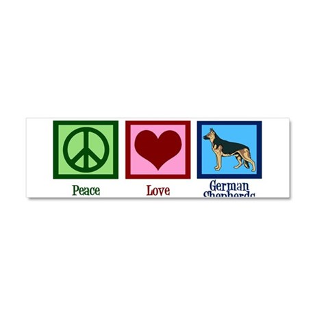 Peace Love German Shepherds Car Magnet 10 x 3