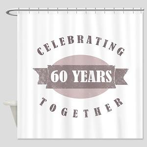 Vintage 60th Anniversary Shower Curtain