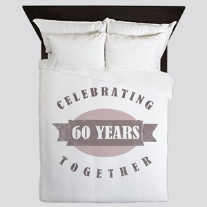 Vintage 60th Anniversary Queen Duvet