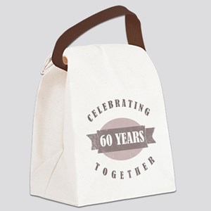 Vintage 60th Anniversary Canvas Lunch Bag