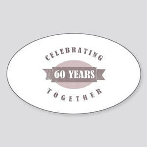 Vintage 60th Anniversary Sticker (Oval)