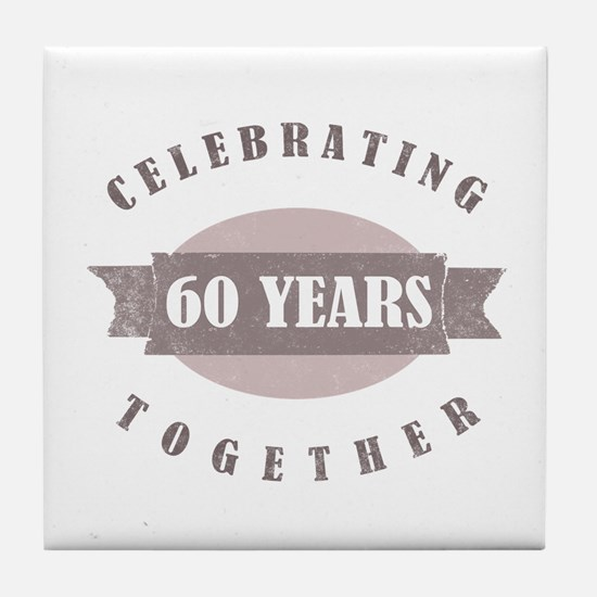 Vintage 60th Anniversary Tile Coaster