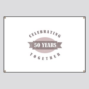 Vintage 50th Anniversary Banner
