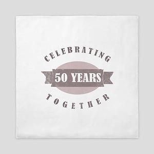 Vintage 50th Anniversary Queen Duvet