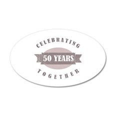 Vintage 50th Anniversary Wall Decal