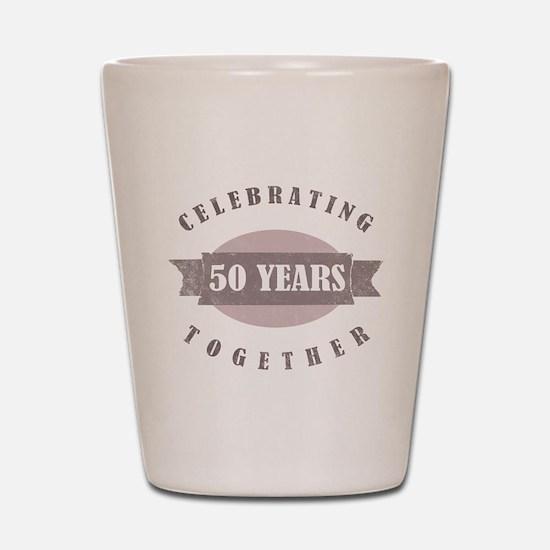 Vintage 50th Anniversary Shot Glass