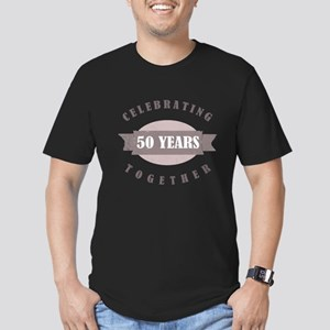 Vintage 50th Anniversary Men's Fitted T-Shirt (dar
