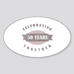 Vintage 50th Anniversary Sticker (Oval)
