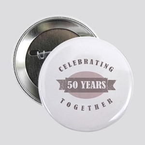 "Vintage 50th Anniversary 2.25"" Button"