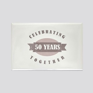 Vintage 50th Anniversary Rectangle Magnet