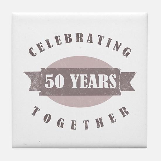 Vintage 50th Anniversary Tile Coaster