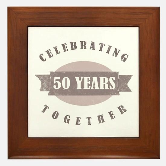 Vintage 50th Anniversary Framed Tile
