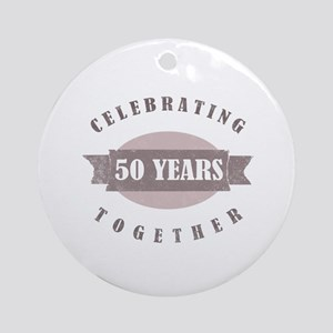 Vintage 50th Anniversary Ornament (Round)