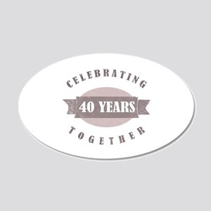 Vintage 40th Anniversary 20x12 Oval Wall Decal