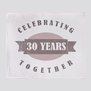 Vintage 30th Anniversary Throw Blanket