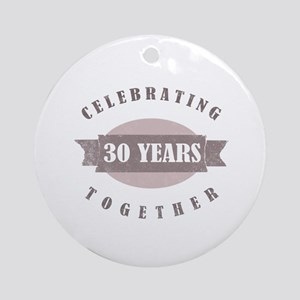Vintage 30th Anniversary Ornament (Round)