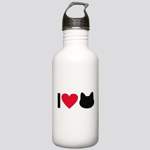 I love cats Water Bottle
