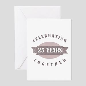 Vintage 25th Anniversary Greeting Card